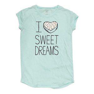 "Gap ""I Heart Sweet Dreams"" Teal T-Shirt Nightgown"